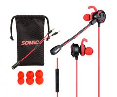 硕美科 G618 入耳式游戏耳机线控重低游戏耳麦