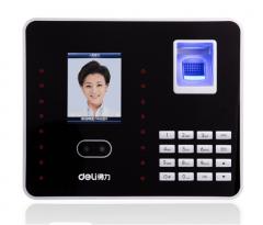 得力 3969 高级人脸识别+指纹考勤机 双考勤模式 支持局域网 自动生成报表打卡机