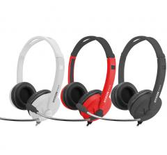 韩国现代 HY-H5170 电脑耳麦立体声耳机【双接头】 黑色