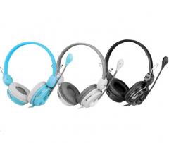 韩国现代 HY-H6150 电脑耳麦立体声耳机【双接头】 黑色