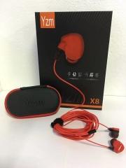 YZM-X8 监听耳机耳塞3.5米加粗线 红色