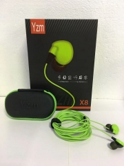 YZM-X8 监听耳机耳塞3.5米加粗线 绿色