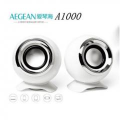 AEGEAN/爱琴海 A1000 低音炮音响 笔记本电脑带振膜音箱 白色