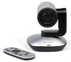 罗技 PTZ PRO 商务会议室摄像头 10倍变焦 兼容多程序 高清摄像头 黑色
