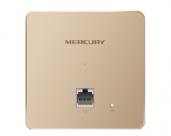 【金色版】水星 MIAP300P  300M无线86型面板式AP【不退不换 正常售后】
