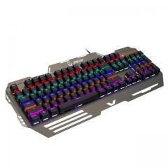 魔腾 KB-829 青轴RGB电竞游戏有线机械键盘 黑色 USB