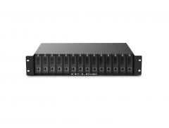 TP-LINK TL-FC1400 光纤收发器14槽专用19寸机架整理箱机柜机箱