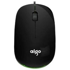 爱国者 Q802 台式笔记本商务办公有线鼠标【60/件】 白红 USB