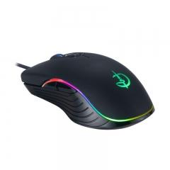 剑圣一族 G800 自定义发光游戏鼠标 家用有线鼠标 黑色 USB