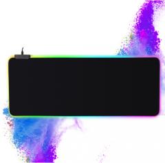 鼠标垫 炫酷 办公桌垫电竞游戏幻彩发光鼠标垫 300*790*4MM