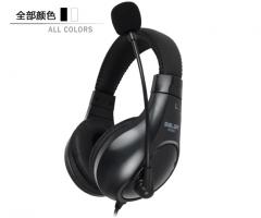 声籁 A566N 头戴式手机笔记本电脑耳麦游戏耳机【单插头】 黑色
