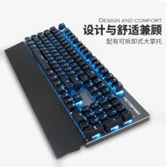 摩豹 GK89 2.4G RGB背光 铝合金面板 可拆卸手托游戏机械键盘 白色 红轴