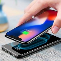 品胜 无线充电宝 苹果iphoneXS 三星S8快充8000毫安 便携轻薄移动电源 黑色