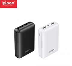 ipipoo/品韵 LP1 LN聚合物 10000毫安手机充电宝 双U口移动电源 黑色