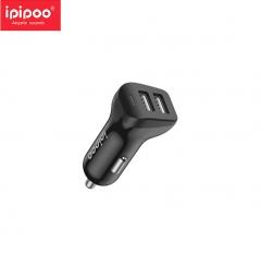 ipipoo/品韵 XP3 双USB车载充电器 线充套装 黑色