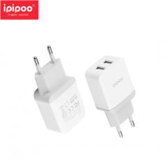 ipipoo/品韵 XP6 欧规双USB 旅充套装 手机通用充电器 白色