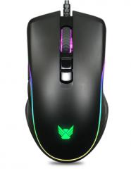 朗森 S9S  电竞炫彩发光游戏鼠标 家用有线鼠标 黑色 USB