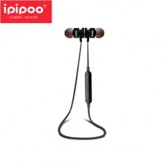 ipipoo/品韵 93BL 金属头入耳式重低音耳机 可通话磁吸无线蓝牙耳机 黑色