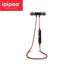 ipipoo/品韵 91BL 入耳式跑步运动立体声磁吸耳机 无线音乐蓝牙耳机 黑红