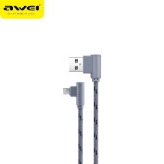 awei/用维 CL91 弯头尼龙编织快速充电线 苹果数据线 灰色 1000mm