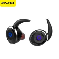 awei/用维 T1 入耳式防水分离式运动耳塞 TWS真无线双耳运动蓝牙耳机 黑色