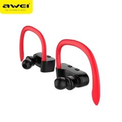 awei/用维 T2 运动挂耳分离式防水TWS真无线双耳入耳式无线蓝牙耳机 黑红