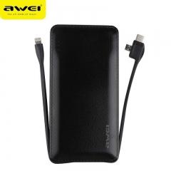 awei/用维 P51K 有线充电宝10000毫安大容量2.4A快充移动电源 黑色