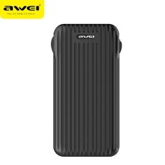 awei/用维 P80K 有线充电宝 10000mAh大容量便携移动电源 黑色