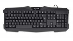 爱国者 W913 商务办公 家用游戏有线键盘 黑色 USB