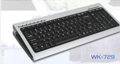 森松尼 WK-729 游戏键盘 铝合金 笔记本 USB办公有线键盘