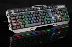 森松尼 S-K4 钢板七彩发光有线键盘
