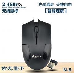 紫光 N8 办公家用省电时尚无线鼠标 黑色 无线