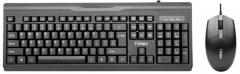 富勒 L630 商务办公游戏键鼠有线套件 黑色 U+U