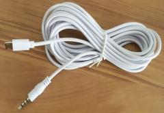 屁颠虫 安卓转3.5线手机声卡连接线 音频线 白色