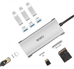 WIWU Alpha 631STR 3.0USB转MicroSD、RJ46转换器