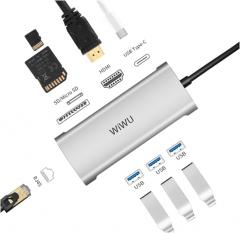 WIWU Alpha 831HRT 3.0USB转RJ45网口及多口转换器