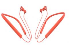 声籁 S19 蓝牙5.0金属耳壳降噪麦克无线蓝牙耳机 红色