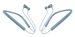 声籁 S19 蓝牙5.0金属耳壳降噪麦克无线蓝牙耳机 蓝色