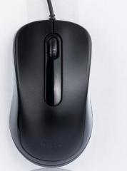 爱国者 Q822 台式 笔记本电脑通用鼠标 游戏办公有线鼠标 黑色 USB