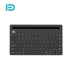 富德 iK3381复古圆形键帽 三设备同连静音蓝牙键盘 黑色 蓝牙