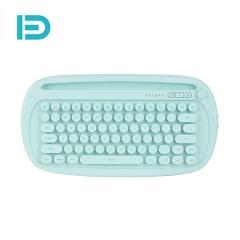 富德 K510D 有线+蓝牙双模炫彩发光有无线键盘 薄荷绿 无线