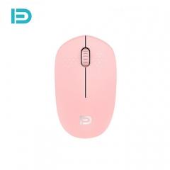 富德 i210  静音迷你便携商务办公家用无线鼠标 粉色 无线