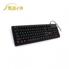 美尚E族 HJK910-10 高级竞技游戏键盘 上下跑马灯 黑色机械键盘