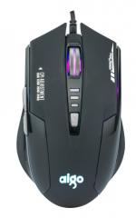 爱国者 Q823 有线时尚发光游戏鼠标 【60/件】 黑银色 USB 黑银 USB