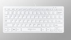 爱国者 W922 多媒体迷你有线键盘 白色 USB 白色 USB
