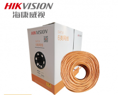 海康威视 DS-1LN6-UE 六类非屏蔽室内网线 橙色 无氧铜 0.53线径 足305米