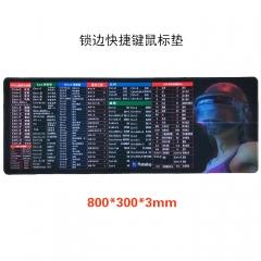 快捷键-头盔女 精密锁边300*800*3mm鼠标垫