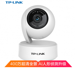 TP-LINK TL-IPC44AN-4 霜白 400万H.265云台无线网络摄像机带网口