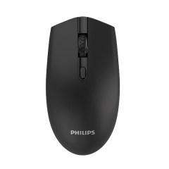 Philips/飞利浦 SPK7404 钢琴烤漆 2.4G自动休眠无线鼠标【100/件】 黑色 无线