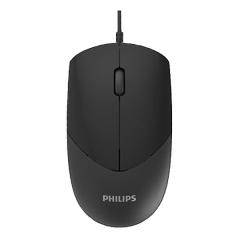 Philips/飞利浦 SPK7244 4D商务办公 有线鼠标【100/件】 黑色 USB